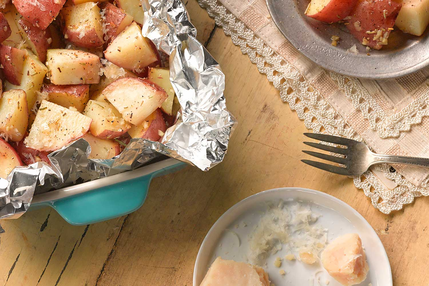 Perfect Garlic & Parmesan Potatoes