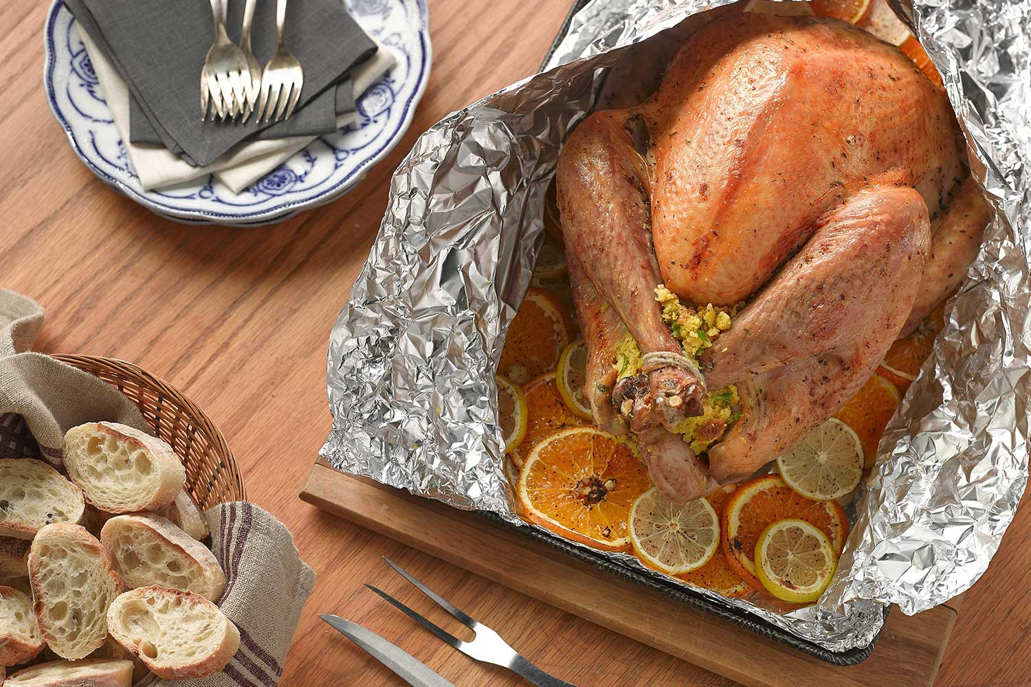 Foil Roasted Turkey