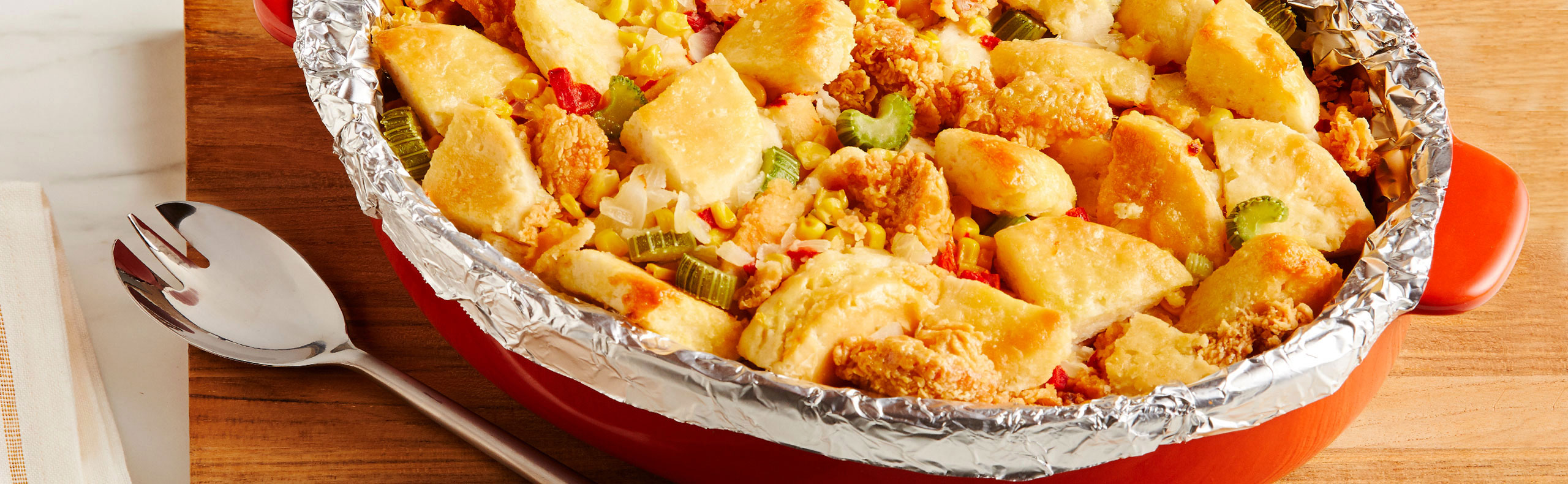 Fried Chicken & Biscuit Stuffing